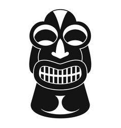 Tiki idol hawaii icon simple style vector