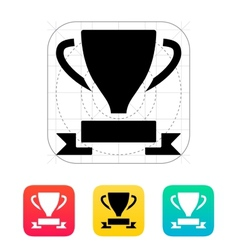 Trophy and awards icon vector