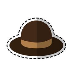 vintage hat icon image vector image