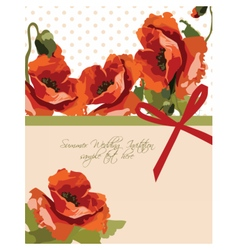 Watercolor poppy flowers vector