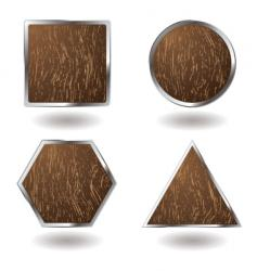 wood button variation vector image