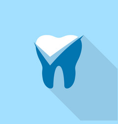 yes mark dental logo icon flat style vector image