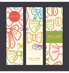 colorful bows vertical banners set pattern vector image vector image