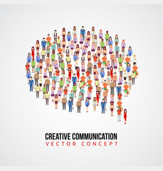communication concept people crowd in vector image