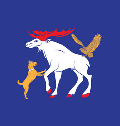 Flag of jamtland is a historical province in the vector