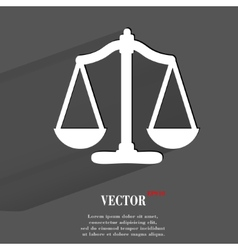 Scales balance Flat modern web button with long vector image