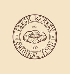 vintage bakery logo typographic poster vector image