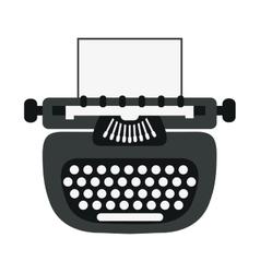 writer machine vintage design vector image