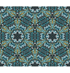 Abstract Tribal doodle motif seamless pattern vector image
