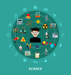 circular science diagram vector image vector image
