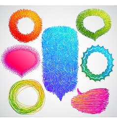 colorful hand drawn speech vector image