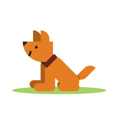 flat brown icon of dog vector image vector image