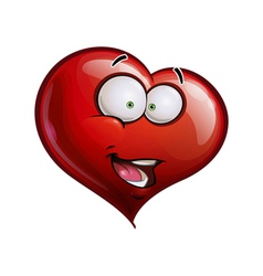 Heart Faces Happy Emoticons Hi vector image vector image