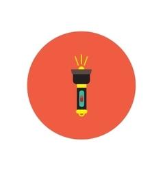 Stylish icon in circle handle electric flashlight vector