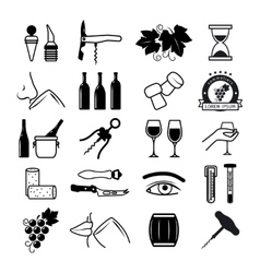 Tasting wine icons vector image vector image