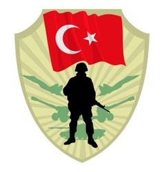 Army of Turkey vector image vector image