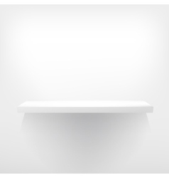 Detailed of white shelves vector