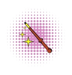 Magic wand icon comics style vector image