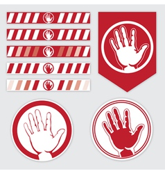 palm caution vector image vector image