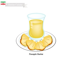Pineapple Sharbat or Iranian Drink From Pineapple vector image