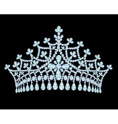 feminine wedding tiara crown with tassels vector image vector image