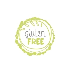 Gluten free food label vector