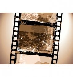 grunge film pattern vector image