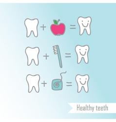 Happy teeth drawing vector image