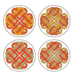 heart celtic cross ethnic ornament vector image vector image
