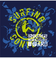 Surfing contest vector image vector image