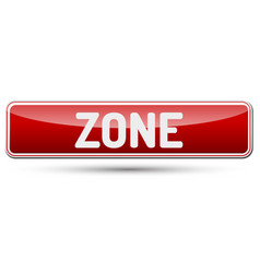 Zone - abstract beautiful button with text vector