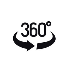 360 degrees view icon vector