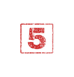 5 rubber stamp vector image