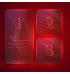 Abstract background with transparent glass banners vector