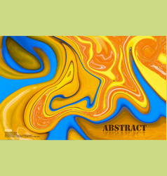 Abstract mixed blue and orange paints surface vector