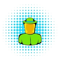 Apiarist icon comics style vector image