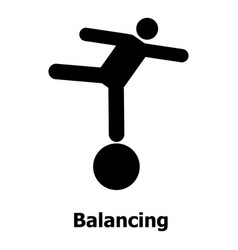 balancing icon simple style vector image