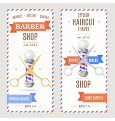 Barber Shop Banners Flyers Card vector image
