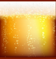 beer background texture with foam and vubbles vector image
