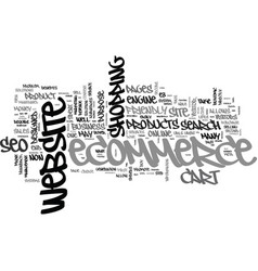 benefits of seo for ecommerce text word cloud vector image