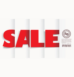 big sale text with paper folds vector image