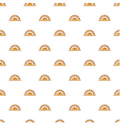 Bread oven pattern seamless vector