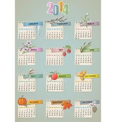 Calendar vintage vector