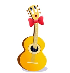 cartoon guitar vector image