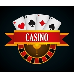 Casino royal games design vector image