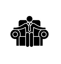 ceo black icon sign on isolated background vector image