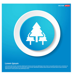 christmas tree icon abstract blue web sticker vector image