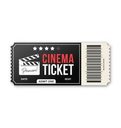 Cinema ticket on white background movie ticket vector