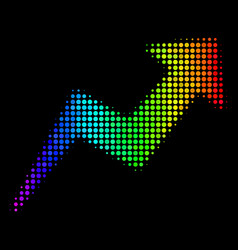 colored dot trend icon vector image