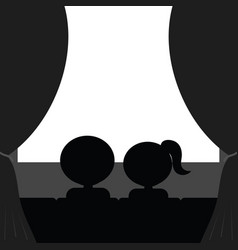 Couple in cinema vector